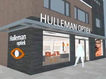 3D ontwerp van Hulleman Optiek door WSB Interieurbouw. Realisatie 2013.