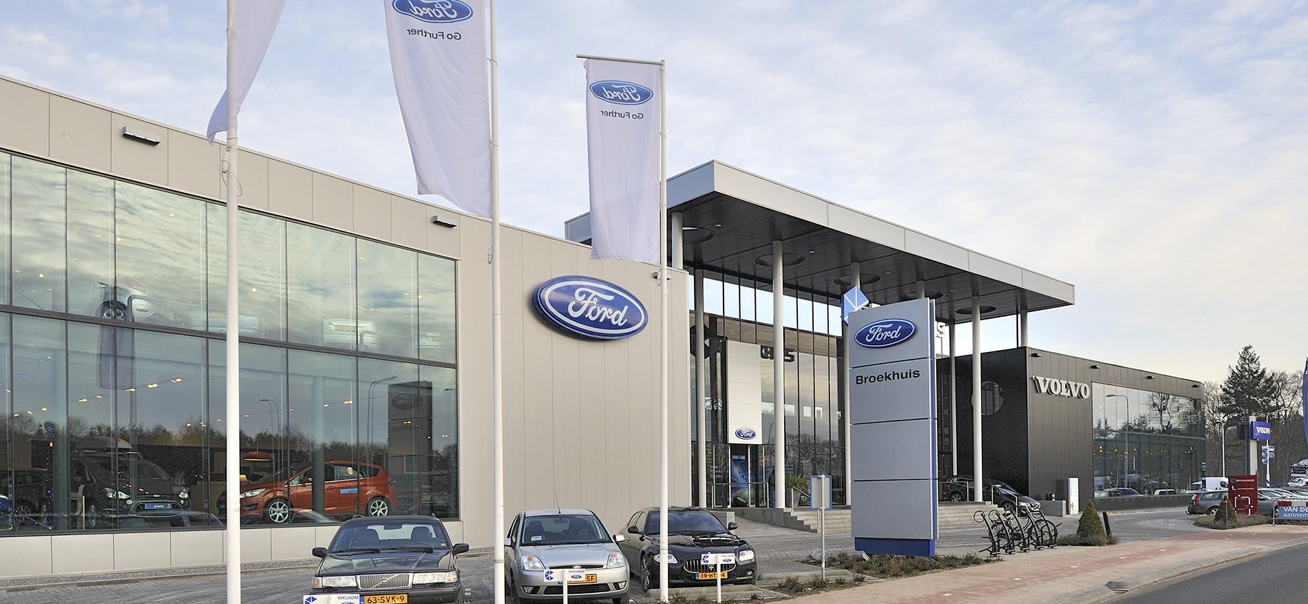 Interieur showroom inrichting Ford Broekhuis, Zeist