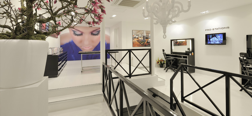 Interieur schoonheidssalon wsb ladenbau kosmetik for Kappersinterieur