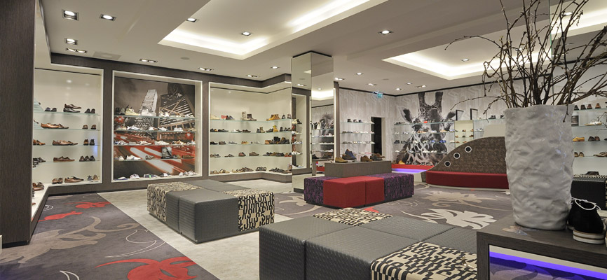 Dungelman schoenen den bosch retail design door wsb for Design im shop