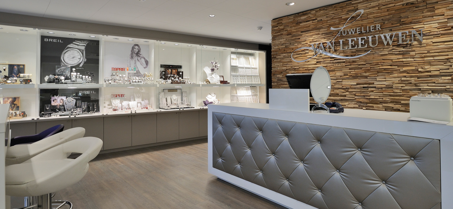 Juwelier van leeuwen dordrecht interieur juwelierszaak for Interieur stylist amsterdam
