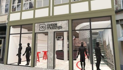 Ontwerp Inrichting Matthijs Optiek in Gent (BE)