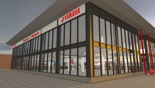 Persbericht: Showroom Goedhart Motoren. Retail design WSB