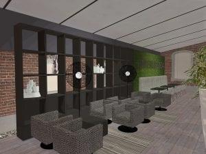 3D Ontwerp WSB Interieurbouw Kliniek Dermatoloog in oud klooster 02