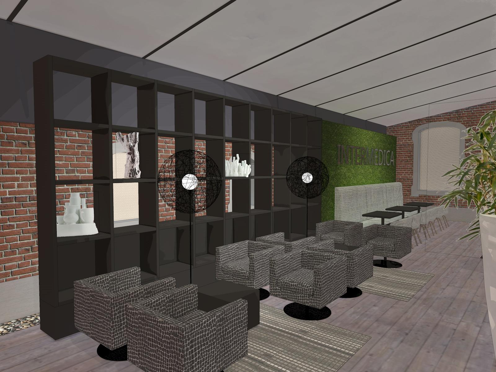 La conception du projet de conception dans le vieux monast re - Agencement bureau ontwerp ...