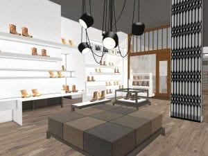 WSB Interieurbouw ontwerpt nieuwe schoenenwinkel voor Kort Shoes 3
