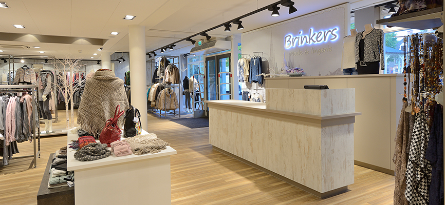 Persbericht interieur kledingwinkel brinkers mode for Interieur winkel utrecht
