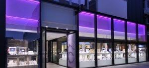 Ontwerp inrichting juwelier Frank Hellinx in Bilzen