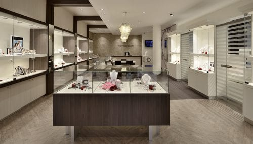 Winkelinrichting juwelier Robert den Haag