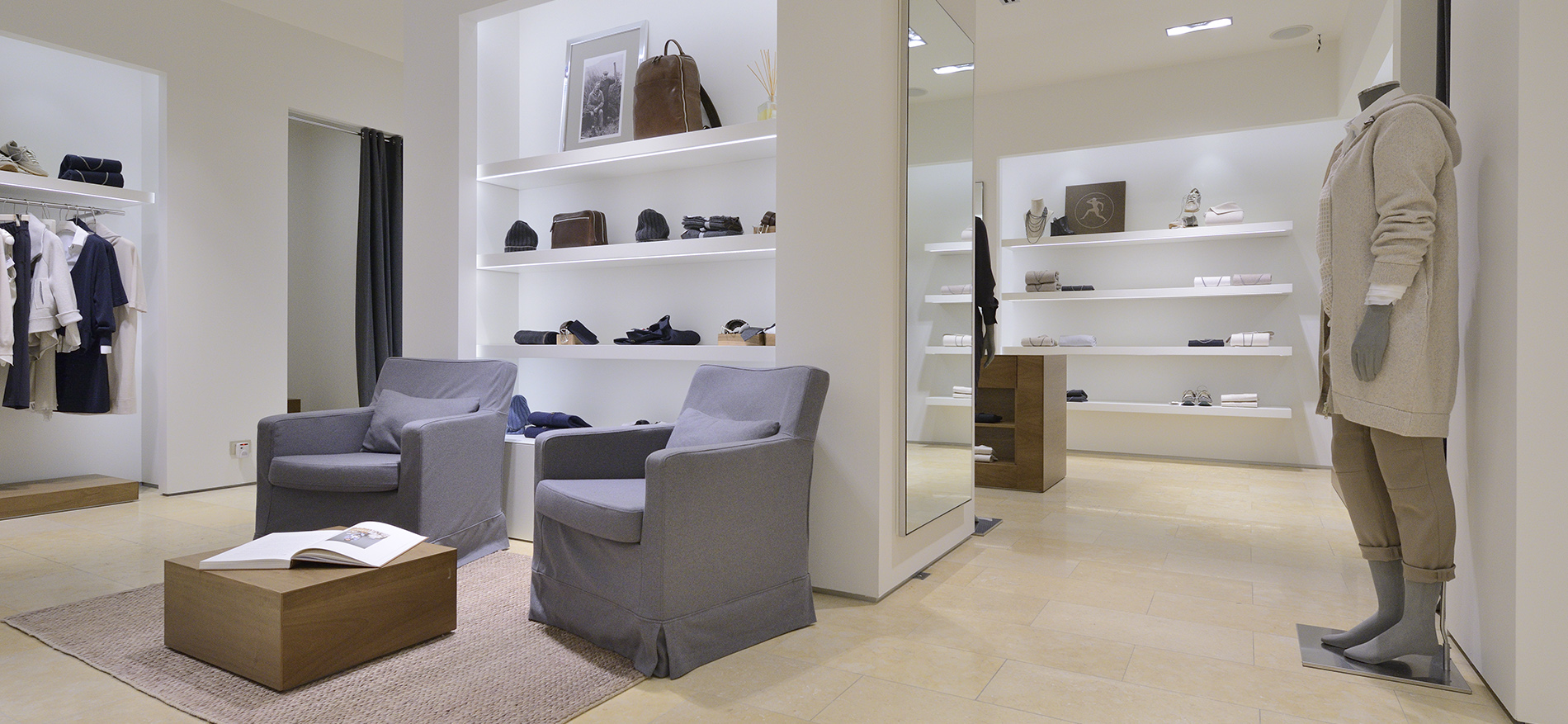 Agencement int rieur pour la boutique de mode for Agencement interieur