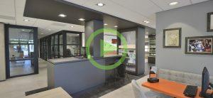 Ontwerp en inrichting door WSB interieurbouw bij De Romph Optiek - Waddinxveen