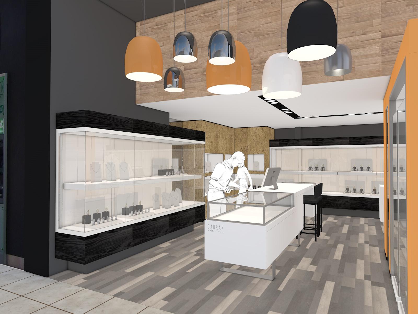 Agencement magasin de bijoux