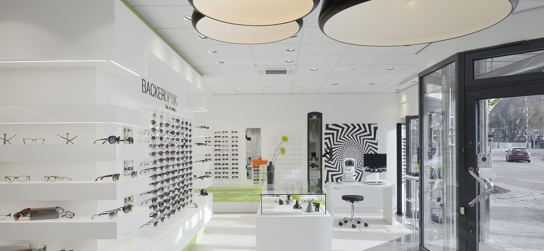 Einrichtung Augenoptiker