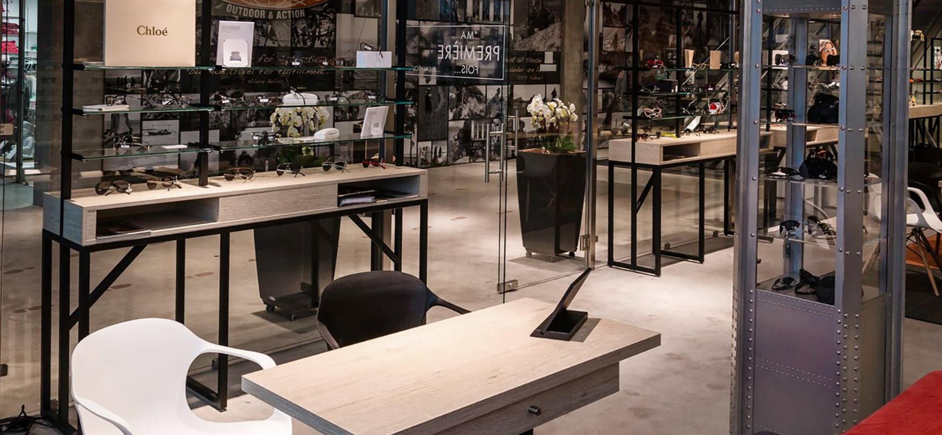 Amenagement pour magasin d 39 optique a luxembourg plusminus et wsb - Amenagement ontwerp ...