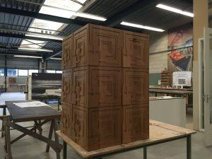 Ennis House van Frank Lloyd Wright als inspiratiebron van interieurontwerp voor meubel maatwerk door WSB Interieurarchitecten en interierbouwers keukens inbouwkasten meubelwerk_9027