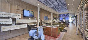 Ontwerp en inrichting door WSB interieurbouw bij van der Leeuw Optiek - Delft retail design optician