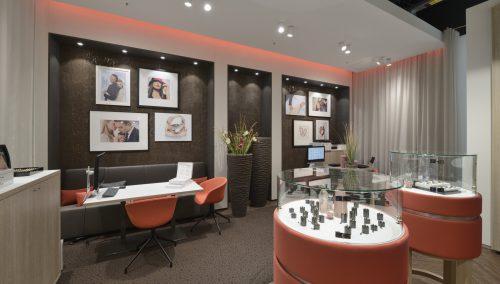 Breuning – Winkelconcept voor trouwringenspecialist in Stuttgart (DE)