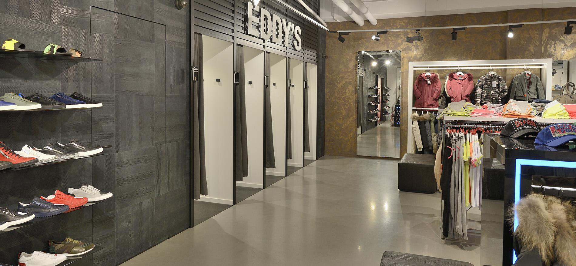 Eddy\'s mode - winkelbouw kleding - WSB Interieurbouw