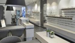 Klöckner Optik fully renovated shop interior