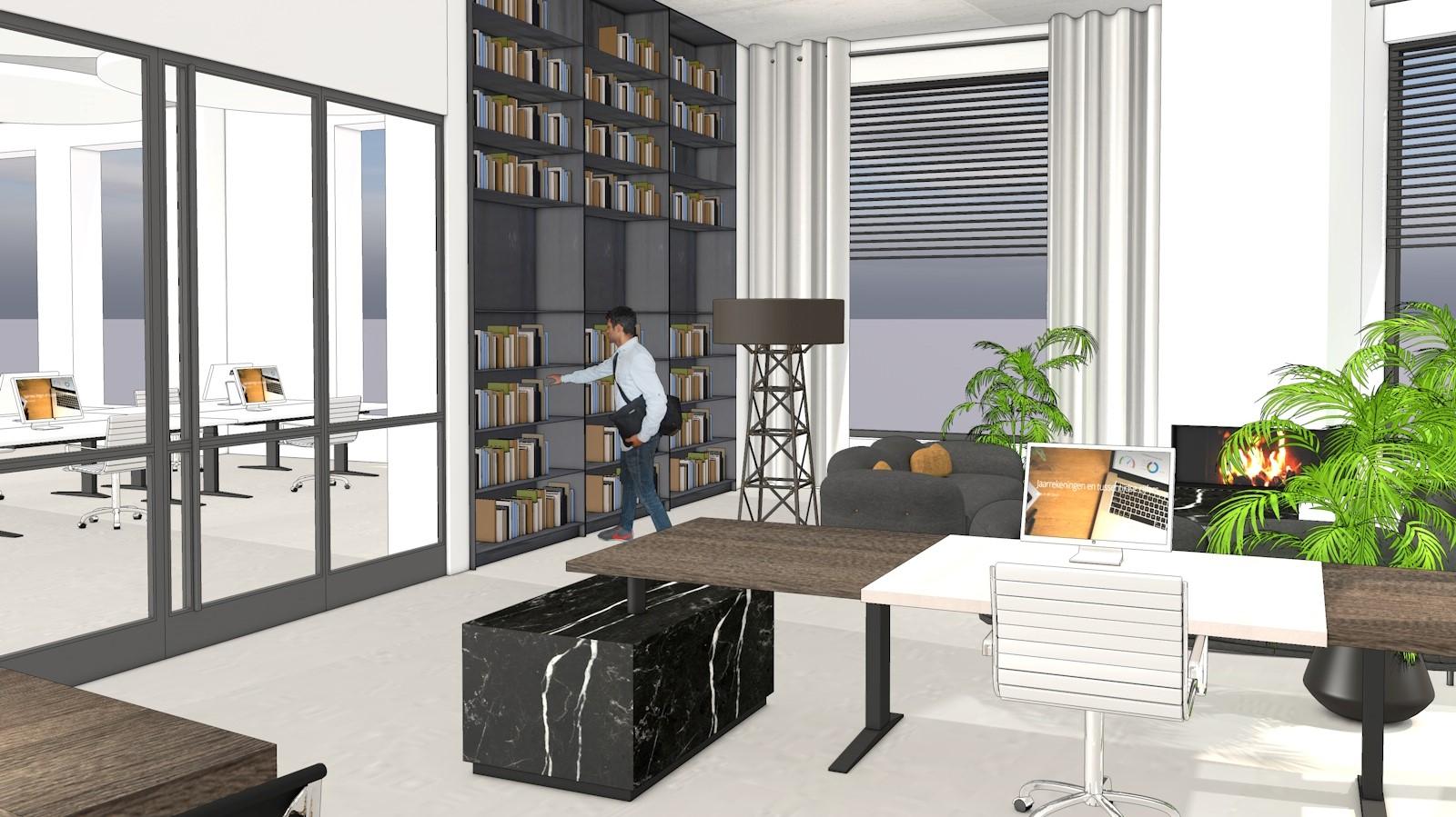 Ontwerp interieur kantoorinrichting maar dan inspirerend for Ontwerp kantoorinrichting